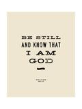 Be Still Giclée-tryk af Michael Jon Watt