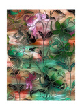 Aqua Sky Lillies Giclee Print by Mindy Sommers