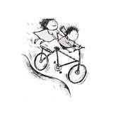 Bike Kids Lámina giclée por Carla Martell