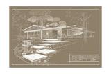 301 Cypress Dr. Sepia - Inverse Impression giclée par Larry Hunter
