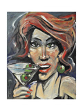 Woman with Martini Giclee Print by Tim Nyberg