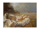 Baby Jesus Giclee Print by Hal Frenck