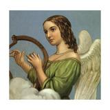 Angel with Harp Giclee Print