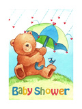 Baby Shower Bear Giclee Print by Melinda Hipsher
