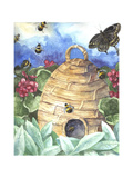 Bee and Flower Giclee Print by Melinda Hipsher