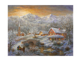 Winter Merriment Lámina giclée por Nicky Boehme