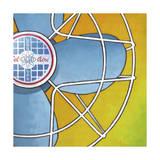 Bel-Aire Fan - Orange Giclee Print by Larry Hunter