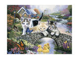 A Purrfect Day Giclee Print by Jenny Newland