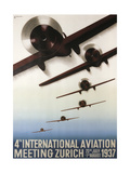 Aviation Zurich Giclee Print
