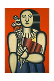 Woman with a Book Giclee Print