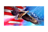 American Eagle Flag Giclee Print by Spencer Williams