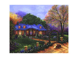Apple Cottage Giclee Print by Bonnie B. Cook