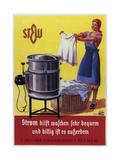 Vintage Swiss Laundry Ad - Giclee Baskı