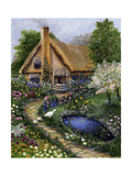 Best Old Cottage Giclee Print by Bonnie B. Cook