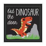 Dinosaur Stampa giclée di Erin Clark