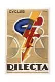Dilecta Fahrräder Giclée-Druck
