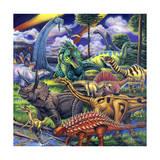 Dinosaur Friends Giclée-tryk af Jenny Newland