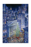 Christmas in the City Giclee Print by Bill Bell