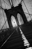 Brooklyn Bridge Study I Fotografisk tryk af Moises Levy