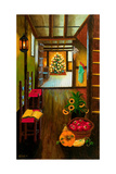 Colonial Christmas Tree Stampa giclée di Bonnie B. Cook