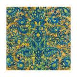 Blue and Orange Swirls Giclee Print by li bo