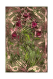 Art Nouveau Pink Floral Giclee Print by Mindy Sommers
