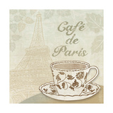 Cafe de Paris Giclee Print by Erin Clark
