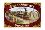 Bells and Whistles Train Giclee Print by Lee Dubin