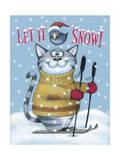 Cat Ski Giclee Print by Margaret Wilson
