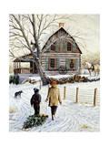 A casa con l'albero Stampa giclée di Kevin Dodds