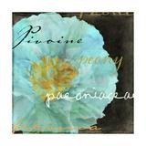 Blue Peony Dark Giclee Print