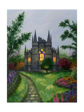 Church Garden Giclee Print by Bonnie B. Cook