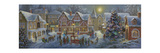 Christmas Village Panoramic Giclee Print by Nicky Boehme