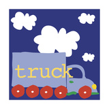Blue Truck Giclee Print by Erin Clark
