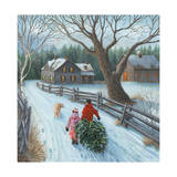 Christmas on the Farm Giclee Print by Kevin Dodds