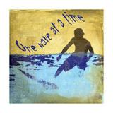 Boy Surf Giclee Print by Karen Williams