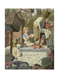 Cooking with Melissa Giclee Print by Bob Byerley