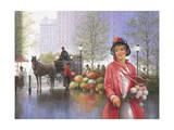 Central Park Flower Market Giclee Print by John Zaccheo