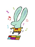 Disco Bunny Giclee Print by Carla Martell