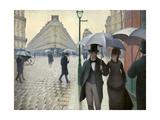 Caillebotte, Paris Street, a Rainy Day Giclée-tryk