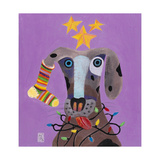 Christmas Dog Giclee Print by Nathaniel Mather