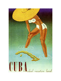 Cuba Ideal Vacation Lámina giclée