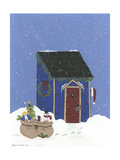 Blue Outhouse Giclee Print by Debbie McMaster
