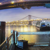 Brooklyn Bridge Pano 2 3 of 3 Photographic Print by Moises Levy
