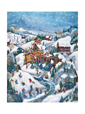 Christmas Barn Giclee Print by Bill Bell