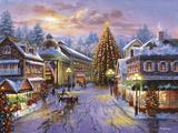 La nuit de Noël Reproduction procédé giclée par Nicky Boehme