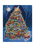 Christmas Cats Giclee Print by Bill Bell