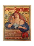 Brasserie Fontaine Giclee Print