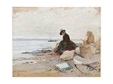 Albert Stevens - Painter at the Beach Giclee Print