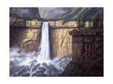 Canyon Cascade Lámina giclée por R.W. Hedge